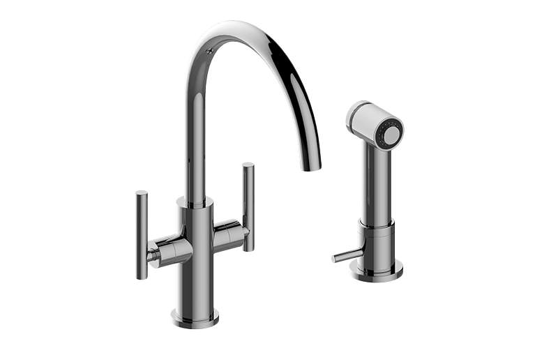 Sospiro Single-Hole Bar/Prep Faucet w/Independent Side