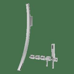 Shower Diverter Valve Diagram Simple Home Electrical Wiring Luna Wall-mounted Tub Filler W/wall-mounted Handles & Handshower Set :: Bathroom Graff