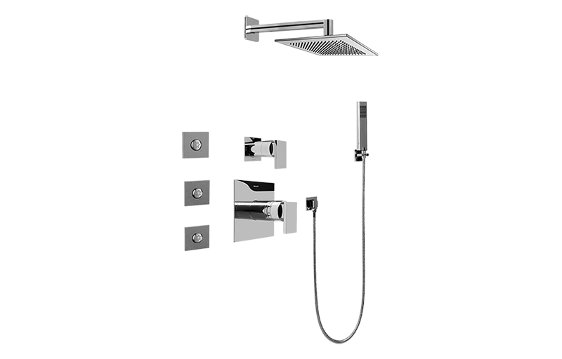 Full Thermostatic Shower System with Transfer Valve (Rough