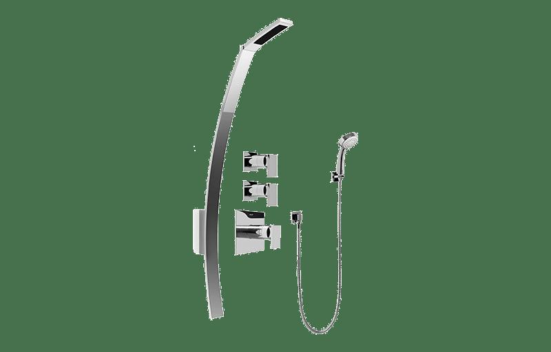 Luna Thermostatic Shower Set w/Handshower (Rough & Trim