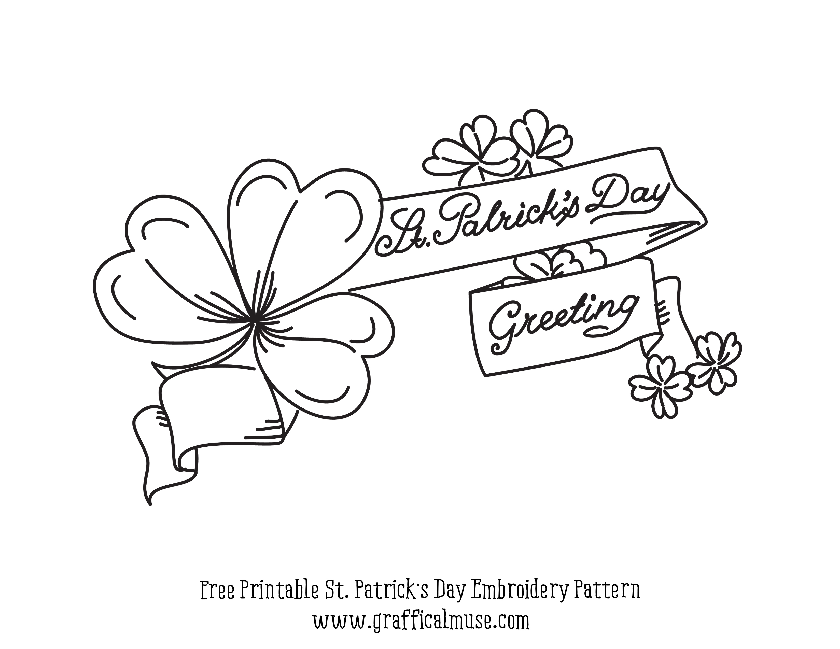 Free Printable Embroidery Pattern