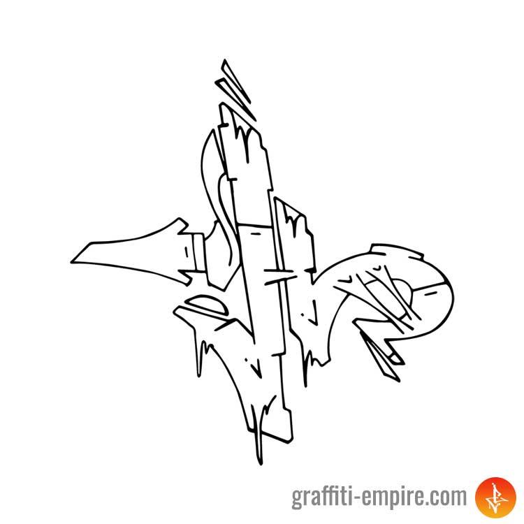 Graffiti Letter H – Graffiti Empire