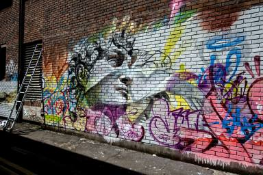 Pichiavo - GraffitiStreet Launch - Blackall Street, London 2014