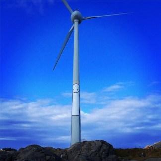 STIK - on windturbine (26m tall)