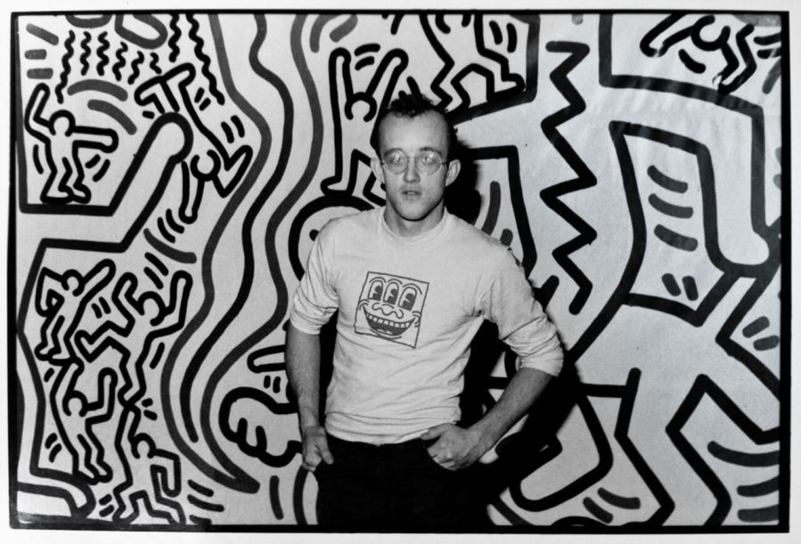 Keith Haring, one of Pahnl's biggest inspirations