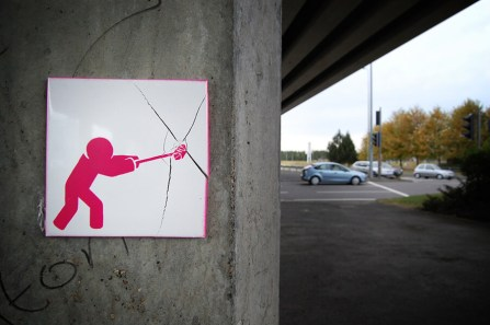 Pahnl Stop Sledgehammer Time Framed Street Art