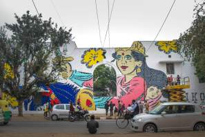 Lady Aiko at Lodhi colony. photo by Akshat Nauriyal
