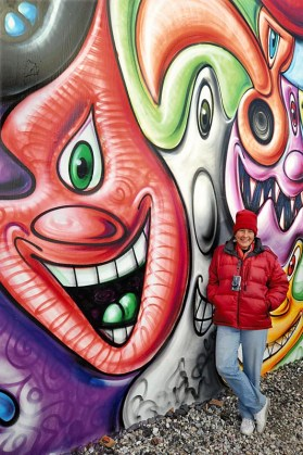 Martha Cooper at Houston Bowery Wall in 2010.