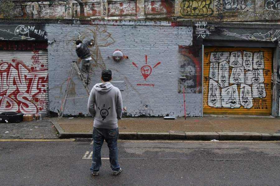 Pichi&Avo Sclater Street Wall piece