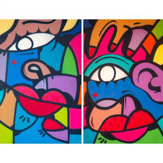 Hunto -Untitled Diptych