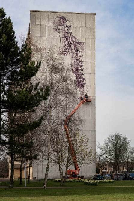 Fintan Magee at The Crystal Ship picture by Egmond Dobbelaere