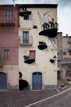 David De La Mano Civitacampomarano Ctvà Street Art Festival, Italy