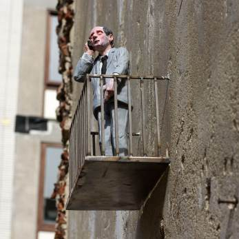 Isaac Cordal at the Crystal Ship Festival Photo © Henrik Haven