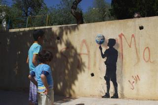 Pejac at Jabal Al-Weibdeh in Amman 'Rotation' Photo @ Pejac
