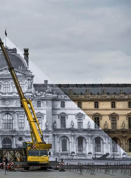 JR, Louvre pyramid, Paris © JR-Art