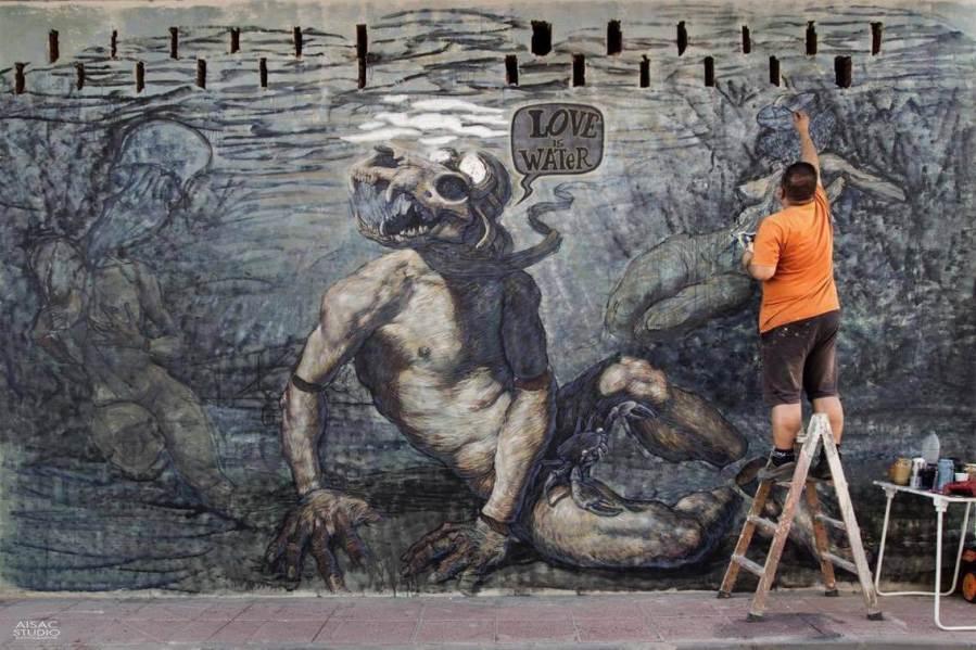 Toni Espinar Street Art festival Mar Menor Los Alcazares