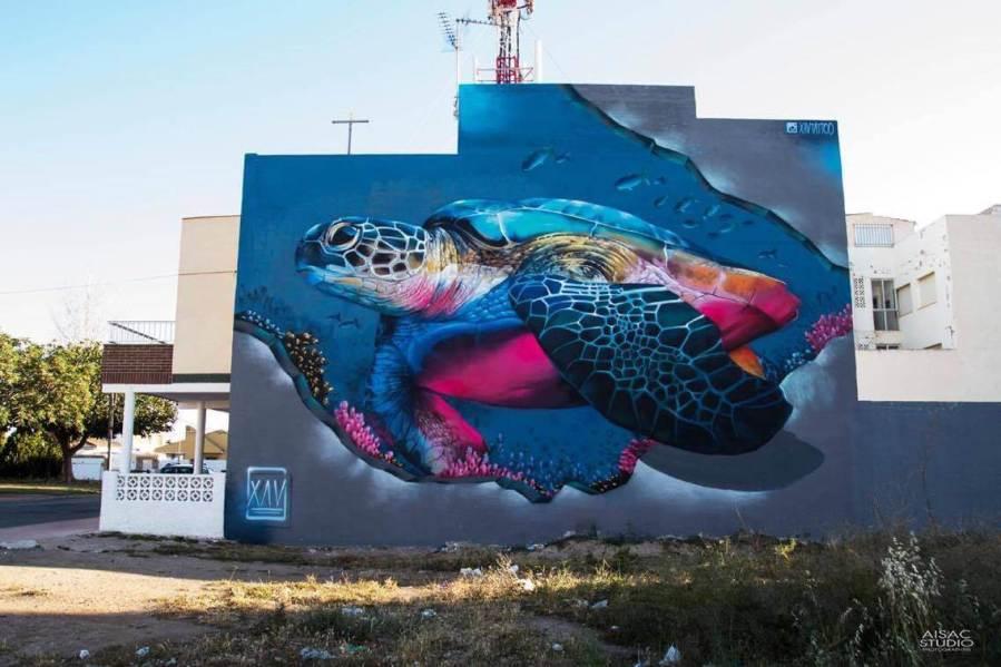 Xav Tattoo Street Art festival Mar Menor Los Alcazares