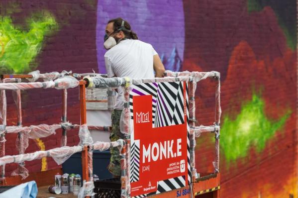 MONKE V Gaumand MURAL street Art Festival
