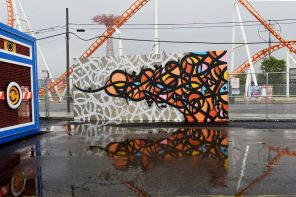 eL Seed Coney Art Walls NYC Photo © Martha Cooper