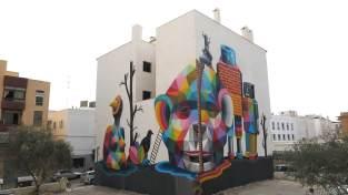 Okuda BLOOP Street Art Festival, Ibiza Photo © Martha Copper