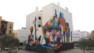 Okuda BLOOP Street Art Festival, Ibiza Photo © Martha Copper