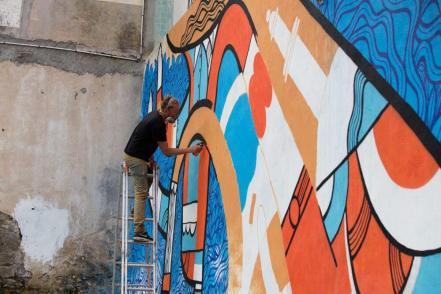 Pablito Zago, 10eme Street Art Festival, Aurillac, France Photo © Ali Abou El Jinane