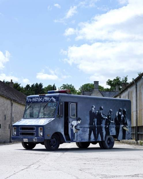 Banksy, Swat Van, Bonhams Auction House, London