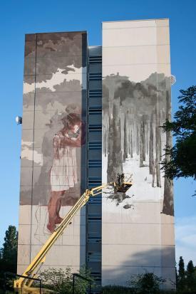 Borondo, Urban Nation - Street art Project M/9, Photo © Nika Kramer