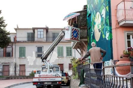 Chiarezza di Luna Gola Hundun, Impronte Street Art Festival photo © Antonio Sena