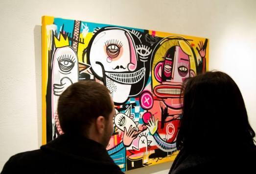 Street Artist Joachim solo show, Antwerp