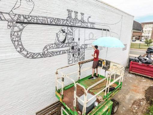 Jacob Eveland, Richmond Mural Project 2016 Photo credit TostFilms
