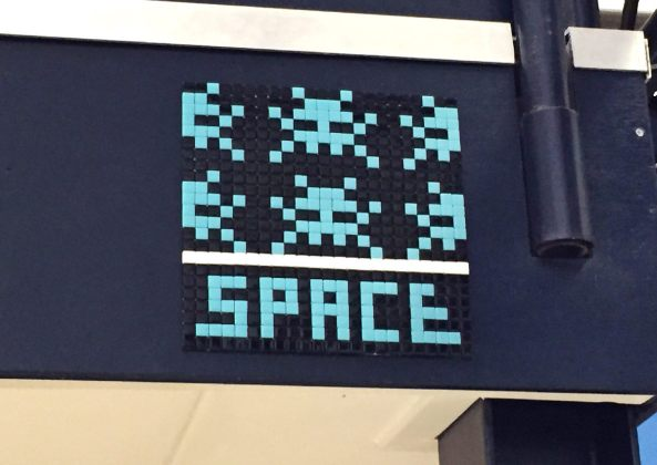 European Space Agency ESTEC Holland space invader street art