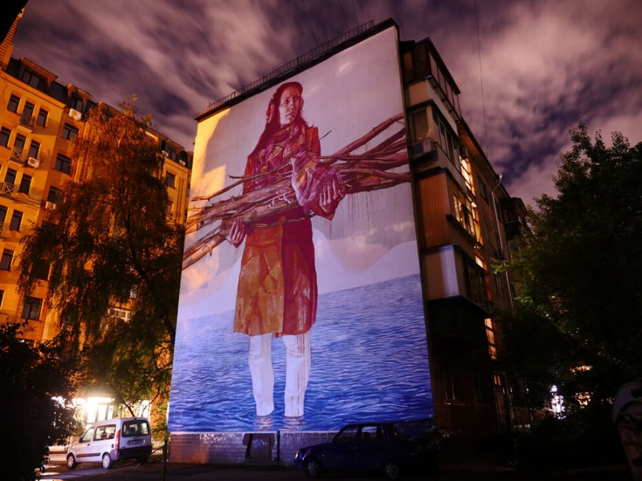 Fintan Magee street art kiev photo credit Amos Chapple:Radio Free Europe