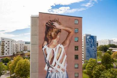 JARUS with RONE Artscape Gothenburg Street Art Festival 2016. Photo Credit Fredrik Åkerberg