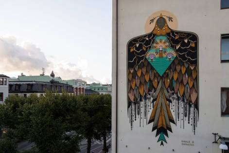 KORALIE & SUPAKITSCH, Artscape Gothenburg Street Art Festival 2016. Photo Credit Fredrik Åkerberg
