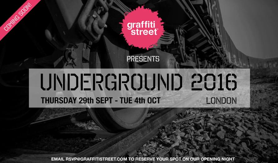 GraffitiStreet Presents 'Underground 2016', an urban art group show in London