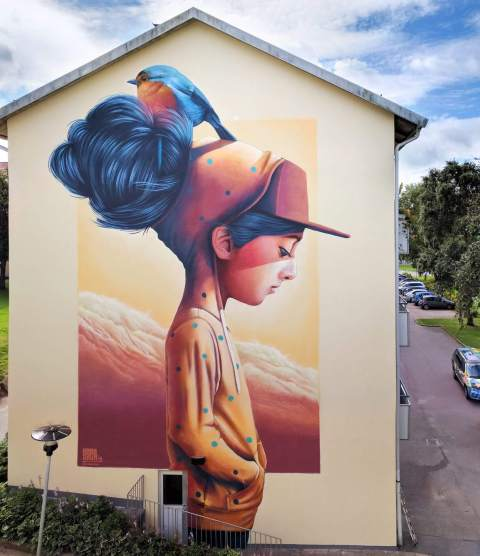 YASH, Artscape Gothenburg Street Art Festival 2016. Photo Credit Fredrik Åkerberg
