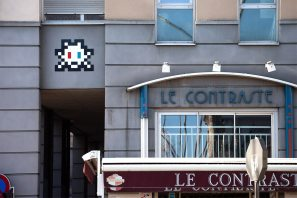 Space Invader, Clermont Ferrand Street Mosaic Art Invasion. Photo © Invader