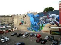 Sat One & Etam Crew, Urban Forms street art gallery, Lodz, Poland.