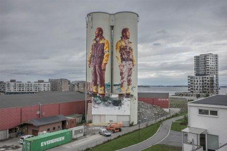 Fintan Magee, Nuart Festival, Norway 2016. Photo credit Ian Cox