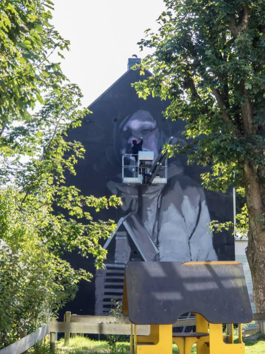 Axel Void. Nuart 2016, Stavanger, Norway. Photo credit John Rodger.