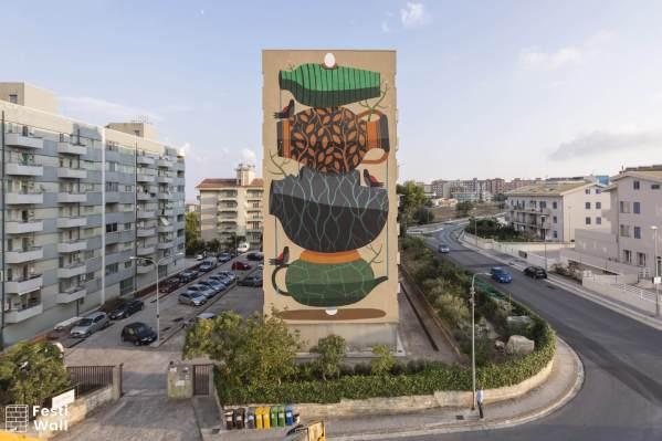Agostino Iacurci, Festiwall, Street art festival, Sicily Photo credit Marcello Bocchieri