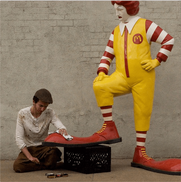 Banksy - Ronald McDonald - Better Out than In - New York Residency - Street Art Intervention 2013