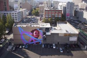 Kevin Ledo, Paint outside the lines project, Portland. Photo credit aptART