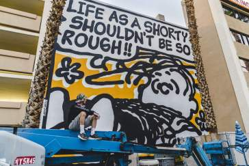 Mark Drew - Life is Beautiful Street Art Festival - Downtown Las Vegas - Photo credit JustKids