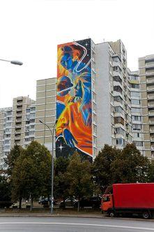 Dourone, Art United Us, Street art Kiev, Ukraine. Photo credit artist