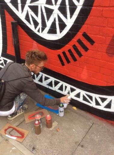 Joachim, Underground 2016 Street art Shoreditch.