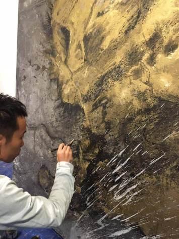 'Uncaged' by street artist Hua Tunan GraffitiStreet Underground 2016, London