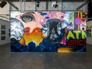 Daze, Magic City, Street Art Exhibition, Dresden, Germany. Photo Credit Rainer Christian Kurzeder