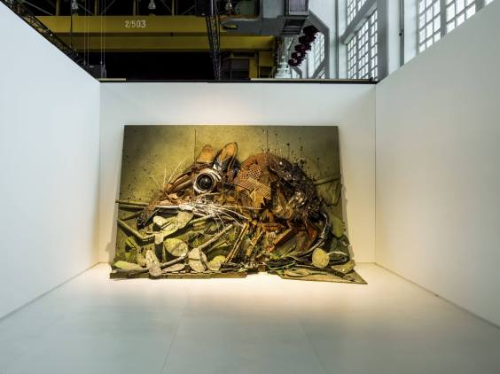 Bordalo ii, Magic City, Street Art Exhibition, Dresden, Germany. Photo Credit Rainer Christian Kurzeder